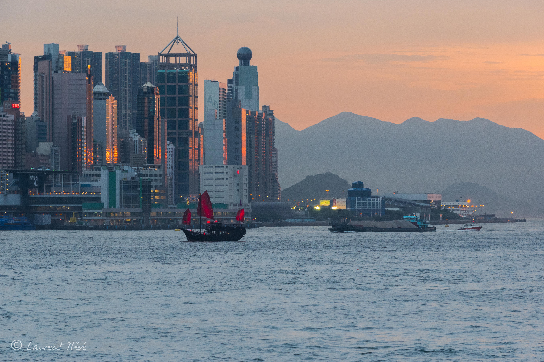 Hong Kong et ses couchers de soleil.