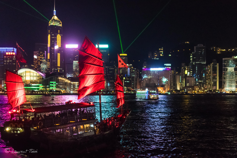 Hong Kong et ses lumières.