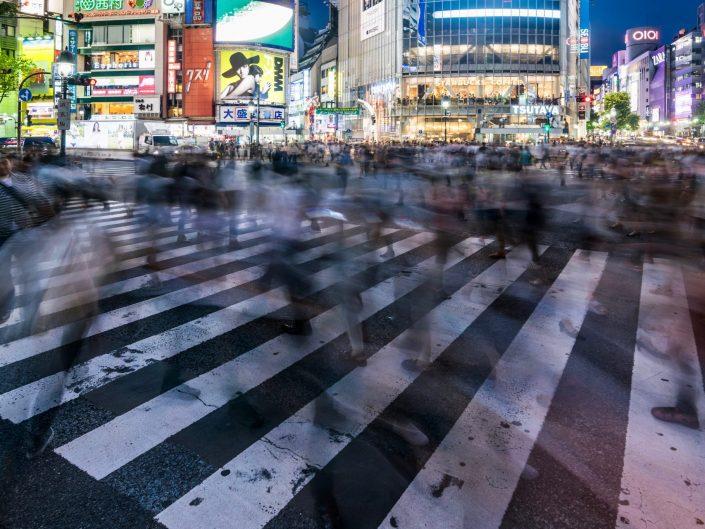 Shibuya crossing, Japon