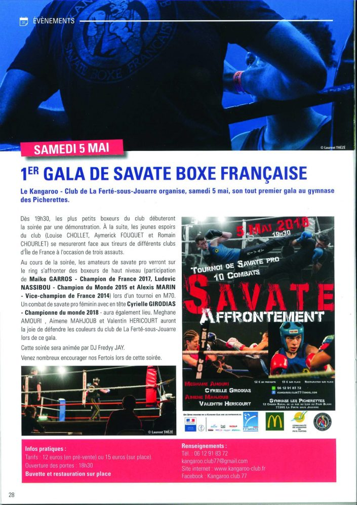 Savate Affrontement 2018